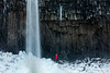 Snow and Ice at Svartifoss Falls