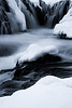 Bruarfoss Falls during Winter