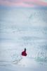 Person overlooking glacier