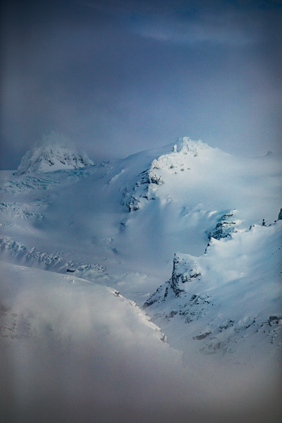 Snowy mountains of Skaftafell