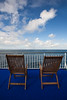 Chairs on cruise ship, North Atlantic