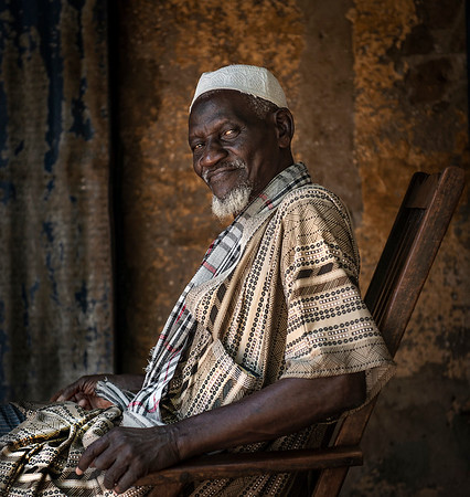 Portrait of a local man.  Cap Skirring, Casamance, Senegal, 2020