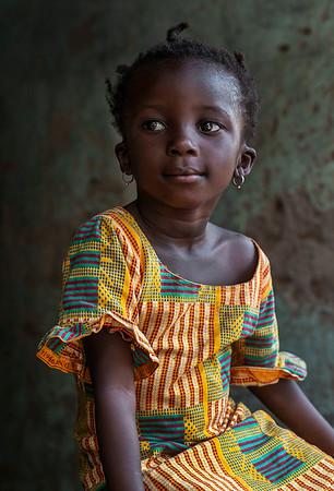 Portrait of a little girl.  Diembéreng, Senegal, 2020.