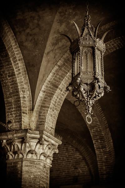Courtyard of the Podestà light fixture