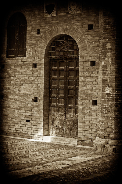 Door inside the Courtyard of the Podestà