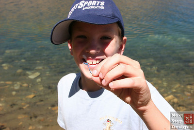 Trevor spent his time hunting Dragon Flies.  He caught this one in mid-flight!