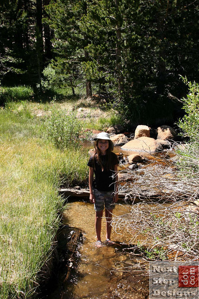 Heather cools off in Baker Creek