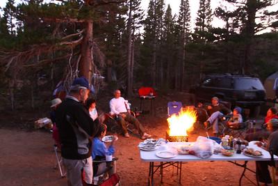 Campfire/Potluck dinner at Copper Mountain.