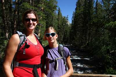 Marni and Megan basking in the Alpine splendor