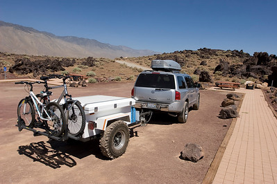 The family cruiser with the new off-road trailer, and bikes, and cargo box, and .....