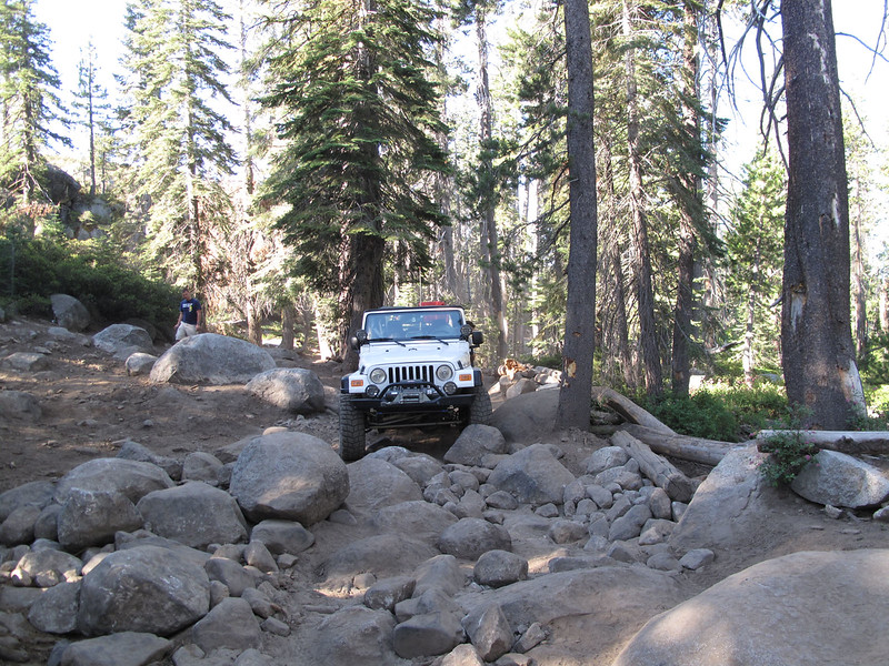 My Jeep at the remnants of the old Gatekeeper - dynamited clear these days, to prevent illegal bypasses.