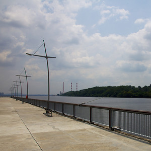View of Senoko from the jetty at Woodlands Waterfront