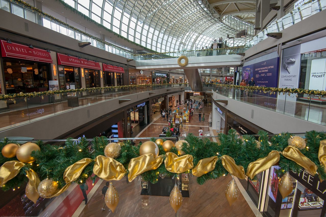 The Shoppes at The Marina Bay Sands which is an integrated resort fronting Marina Bay in Singapore opening in 2010.