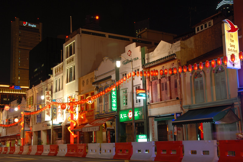 Vesak Festival, Chinatown. Near Smith Street (Food Street), China Town. <br /> On 30th May, 2007, The Buddha Tooth Relic temple which is the biggest Buddhist temple in Singapore was re-opened after renovation. The temple is dedicated to Maitreya Buddha, and it houses the Sacred Buddha Tooth Relic. <br /> <br /> Singapore's Chinatown is an ethnic neighbourhood featuring distinctly Chinese cultural elements and a historically concentrated ethnic Chinese population although it also houses many other religious places such as the Hindu Sri Mariamman Temple and Jamae Mosque.
