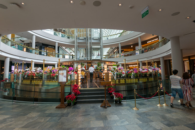 Inside Marina Bay Sands located in Central Area, Singapore. Lots of options for food & shopping.
