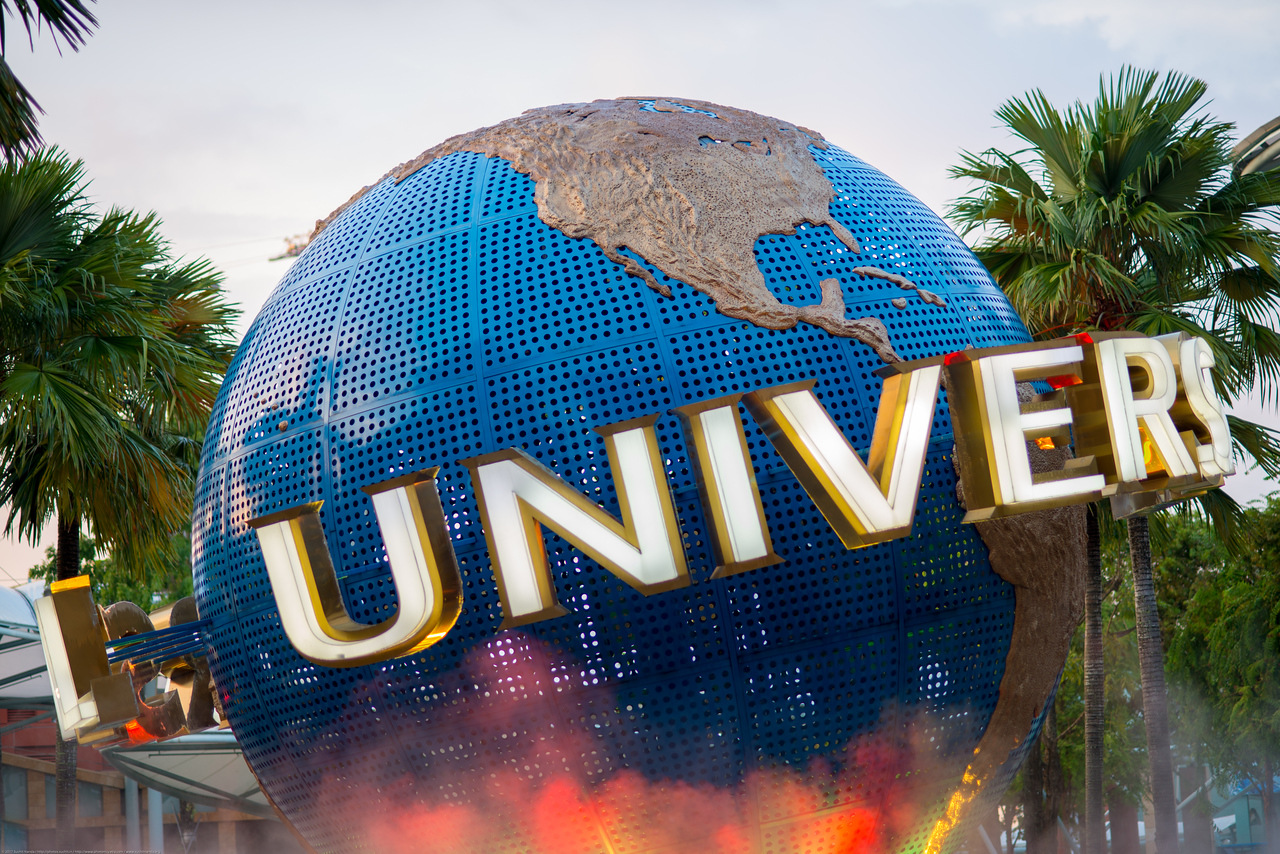 Universal Studios Singapore Rotating Globe<br /> <br /> Universal Studios Singapore is a theme park located within Resorts World Sentosa on Sentosa Island, Singapore. It has since attracted more than 2 million visitors in the 9 months from its opening. Singapore.