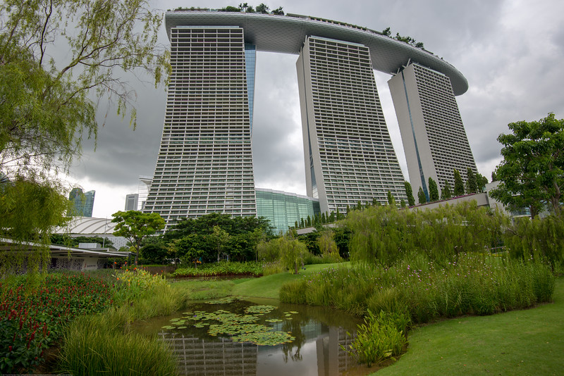 Marina Bay Sands seen from Gardens by the Bay, Singapore.