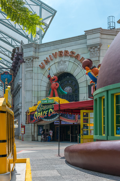 Sesame Street Spaghetti Space Chase is a dark ride in the New York section of Universal Studios Singapore at Resorts World Sentosa., Singapore. Universal Studios Singapore is a theme park located within Resorts World Sentosa on Sentosa Island, Singapore.