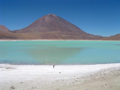 Laguna Verde with Volcan Licancabur
