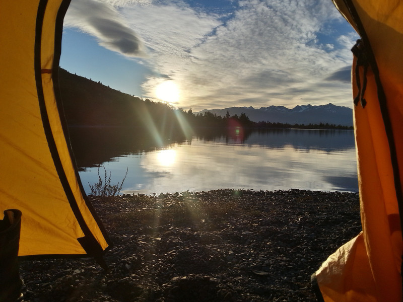 The sunrise from my tent