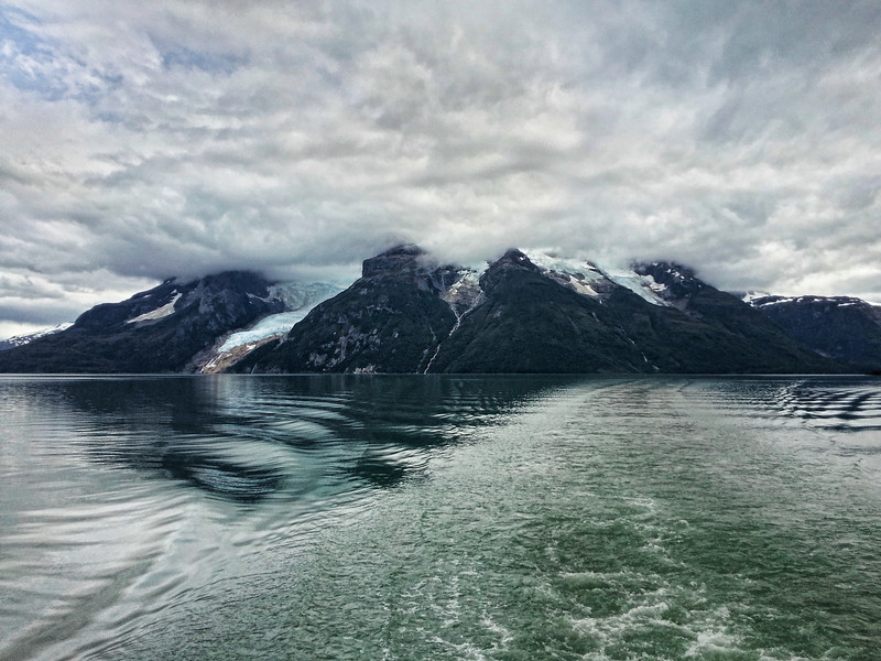Leaving the Last Hope Fjord on the boat