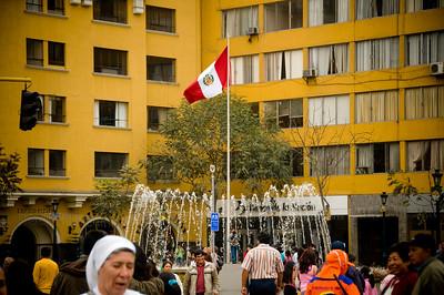 La bandera de Peru (Flag of Peru)