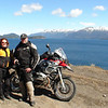 "Brian and Shira from Backroads Magazine with Lake Nahuel Huapi in the background, Argentina.  , <a href=""http://www.motoquesttours.com/guided-motorcycle-tour.php?patagonia-chile-argentina-tour-23"">http://www.motoquesttours.com/guided-motorcycle-tour.php?patagonia-chile-argentina-tour-23</a>"