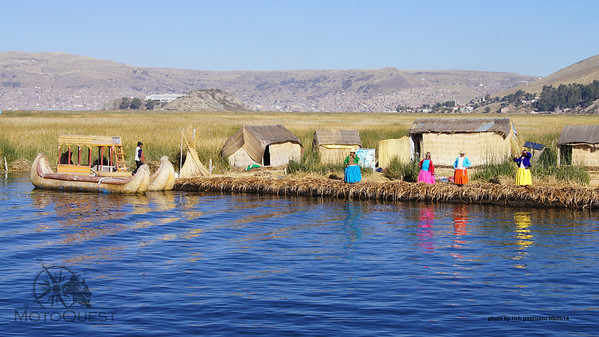 Uros - Floating islands - Lake Titicaca