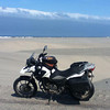"""Sand dunes creeping up on the road. Day 6 <a href=""""http://bit.ly/peruadventure"""">http://bit.ly/peruadventure</a>"""