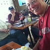 "Gerry with the perfect cheese burger. Day 6 <a href=""http://bit.ly/peruadventure"">http://bit.ly/peruadventure</a>"
