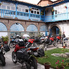 "Courtyard parking at our hotel in Cuzco<br />  <a href=""http://www.motoquesttours.com/guided-motorcycle-tour.php?peru-machu-picchu-adventure-25"">http://www.motoquesttours.com/guided-motorcycle-tour.php?peru-machu-picchu-adventure-25</a>"