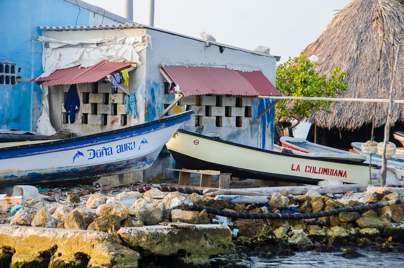Boats on the Santa Cruz del Islote
