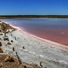 Salt lakes in the Coorong National Park