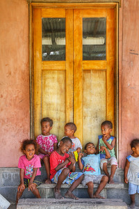 Local kids from the school on the Island of Nacula