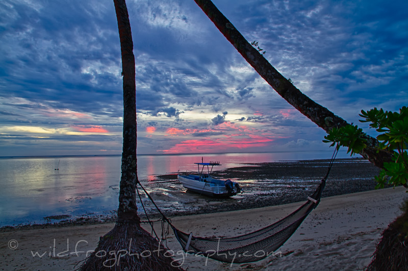sundowners at sunset fiji