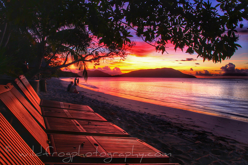 Sunset outer Fiji islands