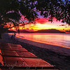 Sunset outer Fiji islands