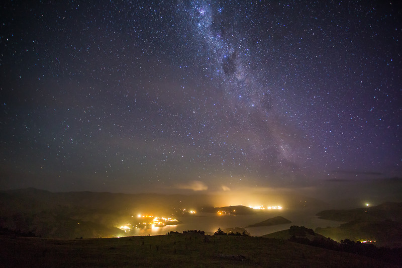 """Southern Skies"" I<br /> <br /> Milky Way above Akaroa, Banks Peninsula, South Islands."