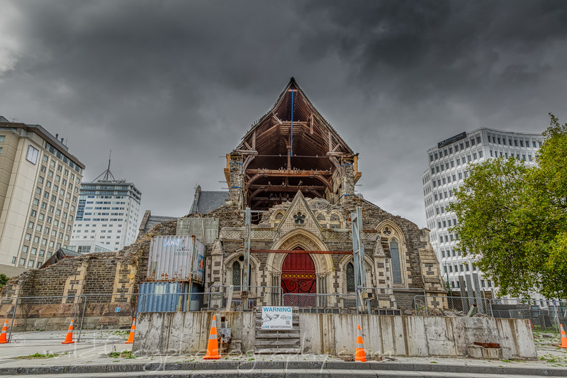 Christchurch Cathedral after earthquake