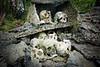 Headhunter shrine, Skull Island, Vona Vona Lagoon, New Georgia, Western Province, Solomon Islands.