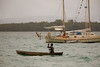 Nautical culture clash, Roviana Lagoon, New Georgia, Western Province, Solomon Islands.