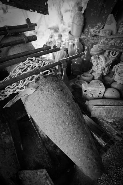 Second World War relics, Munda, New Georgia, Western Province, Solomon Islands.