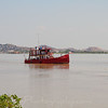 Old work boat on the Guayas River - Guayaquil