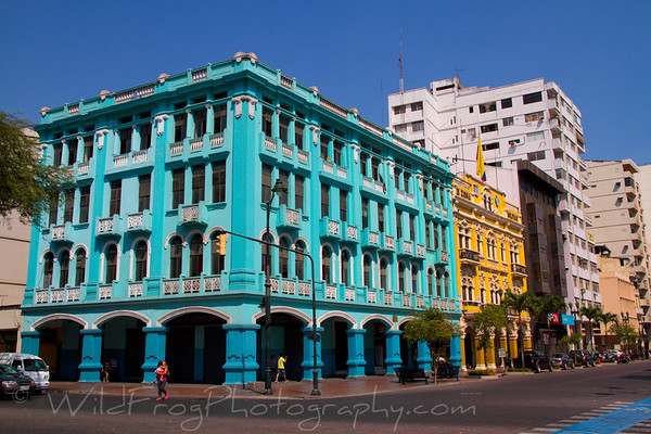 Colorful buildings of Guayaquil