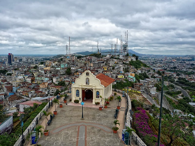 The Church on top of Santa Ana Hill, looking over part of Guayaquil City