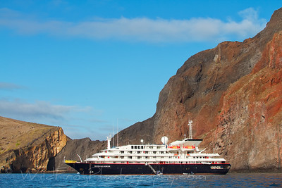 The Silver Galapagos at Anchor - Galapagos Islands