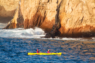 kayaking near Wizard Hill on San Cristobal Island just before sunset
