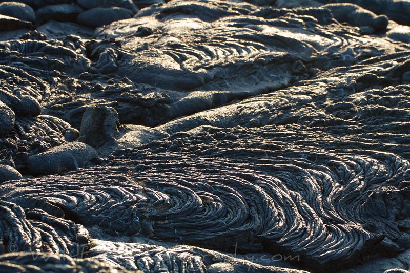 Lava field at Sunset - Sullivan Bay - Galapagos Islands