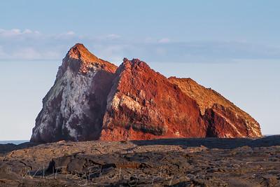 Sunset on the lava field
