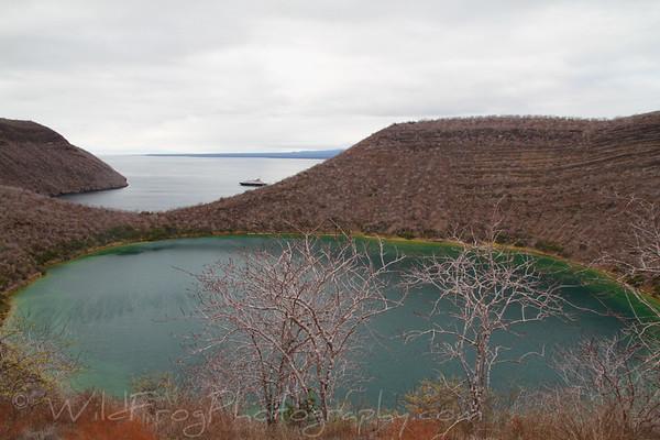 Darwin Lake on Isabela Island - Galapagos